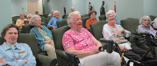 Residents await the movie