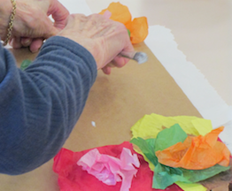 Making Kaleidoscope / Tissue Paper Art