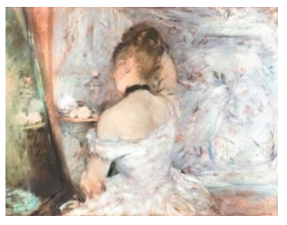 Morisot work:Woman at her Toilette [putting on her make-up]