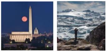 photographs of D.C. and Antarctica